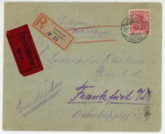 Nr. 84 (20 X) MIF Einschreiben Aus Limbach 1919 - Briefe U. Dokumente