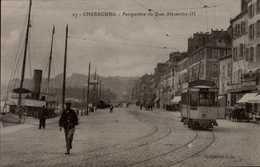 50-CHERBOURG...QUAI ALEXANDRE III AVEC TRAM.......CPA  ANIMEE.. - Cherbourg