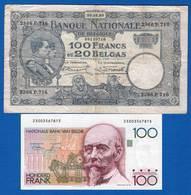 Belgique  4  Billets  Billets - [ 2] 1831-... : Reino De Bélgica