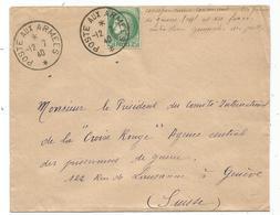 CERES 2FR50 VERT LETTRE POSTE AUX ARMEES 12.7.1940 POUR SUISSE + MENTION RARE - Guerre De 1939-45