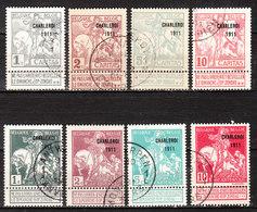 100/07  Caritas Surchargée Charleroi 1911 - Série Complète - Oblit. - LOOK!!!! - 1910-1911 Caritas
