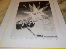 ANCIENNE PUBLICITE APPAREIL PHOTO  FOCA   1951 - Autres