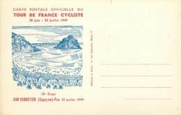 ESPAGNE , Tour De France 1949 (cyclisme), San Sebastien Pau , Edition Joseph Foret , * 396 33 - Cyclisme