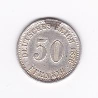50 Pfennig 1876 A  TTB - [ 2] 1871-1918: Deutsches Kaiserreich
