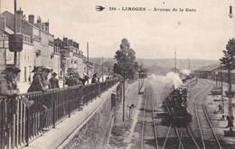 87-LIMOGES AVENUE DE LA GARE TRAIN - Limoges