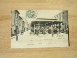 Cpa 84 1905 Avignon Halle Aux Grains Place Des Carmes Animation - Avignon