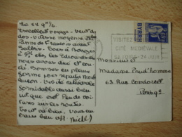 Byrrh Timbre Publicite Publicitaire Paix Sur Lettre - Storia Postale