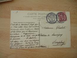 La Balme Facteur Boitier Cachet Perle Obliteration Sur Lettre - Postmark Collection (Covers)