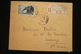N°764 Pointe Du Raz Seul Sur Lettre Recommandée Cachet Foire De Paris 8/5/1948 Paris 15 - Marcophilie (Lettres)