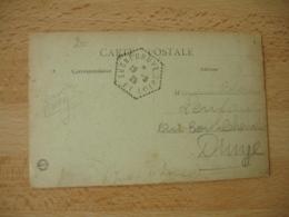 Druye Recette Auxiliaire Cachet Hexagonal Obliteration Sur Lettre - Postmark Collection (Covers)