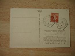 Fort De Douaumont  Recette Auxiliaire Obliteration Cachet Hexagonal - Postmark Collection (Covers)