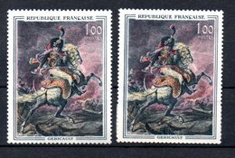 B67 France Variété Du N° 1365a ** Au Sabre Rouge - Kuriositäten: 1960-69 Briefe & Dokumente