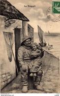 LE TRÉPORT  Tic-Tac, Grand-Père.  Carte écrite En 1908  2 Scans  TBE - Le Treport