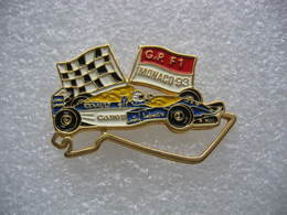 Pin's Du Grand Prix De F1 Sur Le Circuit De Monaco En 1993. Sponsors Bull, Canon, Renault, Elf, Labatt - F1