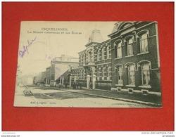 ERQUELINNES  - Maison Communale Et Les Ecoles  -  1907 - Erquelinnes