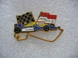 Pin's Du Grand Prix De F1 Sur Le Circuit De Monaco En 1992. Sponsors Bull, Canon, Renault, Elf, Labatt, Camel - F1