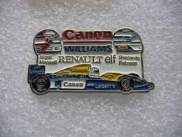 Pin's F1 Sur RENAULT ELF. Equipage Nigel Mansel Et Riccardo Patrese. Sponsors Bull, Canon, Renault, Elf, Labatt, Camel - F1