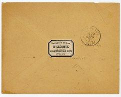 MEUSE ETIQUETTE LITHO HORLOGERIE LECOMTE REMBERTCOURT AUX POTS ENV 1891 LEZOUX PUY DE DOMME VOIR SCANS - Marcofilia (sobres)