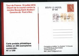 France Curiosité Pour Collectionneur Du Théme Tour De France étape Contre La Montre Bourg Saint-Andéol Ardéche - Variétés Et Curiosités