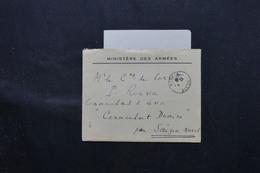 FRANCE- Enveloppe + Contenu Du Ministère Des Armées Pour Saïgon ( Commandant Domine ) En 1946 - L 59581 - Marcophilie (Lettres)