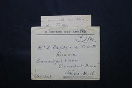 FRANCE- Enveloppe + Contenu Du Ministère Des Armées Pour Saïgon ( Commandant Domine ) En 1946 - L 59582 - Marcophilie (Lettres)