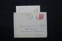 FRANCE - Enveloppe + Contenu De Paris Pour Le Chef De Cabinet Du Vice Amiral à Brest En 1950 - L 59585 - Marcophilie (Lettres)