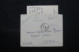 FRANCE / INDOCHINE - Enveloppe + Contenu De Saïgon Pour Un Capitaine De Corvette à Brest En 1947 - L 59586 - Marcophilie (Lettres)