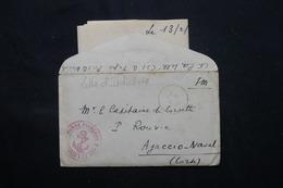 FRANCE / INDOCHINE - Enveloppe + Contenu D'Indochine Pour Un Capitaine De Corvette à Ajaccio En 1945 - L 59587 - Marcophilie (Lettres)
