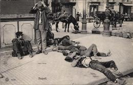 Cp Napoli Neapel Campania, Schlafende Arbeiter Auf Der Straße - Autres