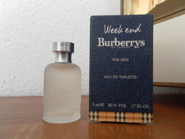 ACHAT IMMEDIAT;;;;MINIATURE WEEKEND FOR MEN - BURBERRYS OF LONDON - 5 ML EAU DE TOILETTE - Miniatures Men's Fragrances (in Box)