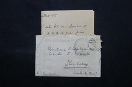 FRANCE - Enveloppe + Contenu Du Contre Torpilleur Tigre Pour Un Capitaine De Corvette à Ploubalay En 1945 - L 59588 - Marcophilie (Lettres)