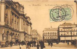 Bruxelles - La Poste Et La Place De La Monnaie - Bruxelles-ville