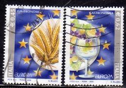 ITALIA REPUBBLICA ITALY REPUBLIC 2005 EUROPA UNITA SERIE COMPLETA COMPLETE SET USATA USED OBLITERE' - 6. 1946-.. Repubblica