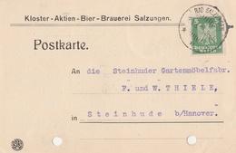 Deutsches Reich Firmenkarte Brauerei Bier Kloster Aktien Bier Brauerei Salzungen 1926 - Covers & Documents