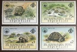 Seychelles Zil Elwannyen Sesel 1985 WWF Giant Tortoises MNH - Reptiles & Amphibians