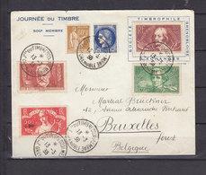 FRANCE 1938-329+330+331+332+364+372 OBL GRENOBLE JOURNEE DU TIMBRE DU 500ième MEMBRE - Postmark Collection (Covers)