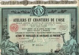 78-ATELIERS ET CHANTIERS DE L'OISE.  PERSAN-BEAUMONT - Acciones & Títulos