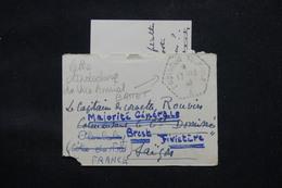 FRANCE - Enveloppe + Contenu Du Vice Amiral Battet ( En Baie D'Along ) Pour Saïgon En 1946 Et Redirigé - L 59592 - Marcophilie (Lettres)