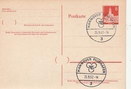 Berlin / 1962 / Postkarte Mi. P 44 SSt. Hannover-Flughafen (BA45) - Postcards - Used