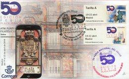 Espagne - 2018 - ATM Tarif A Feria Del Sello Madrid - Les Deux Motifs En Premier Jour - B - 1931-Today: 2nd Rep - ... Juan Carlos I