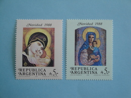 1988 Argentine  Yv 1655/6 ** MNH  - Michel 1951/2 Scott 1637/8  Noël  Christmas - Neufs