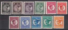 ROEMENIË - Michel - 1930 - Nr 375/85 - MH* - 1918-1948 Ferdinand I., Charles II & Michel