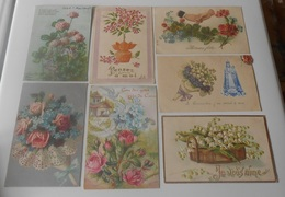 Lot 15 Cartes Postales Fantaisies Gaufrée - Fleurs - Plantes - Autres