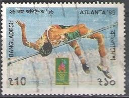 Bangladesh 1996 Michel 578A O Cote (2006) 1.30 Euro Jeux Olympiques D'Atlanta Saut En Hauteur - Bangladesh