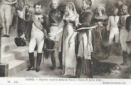 GOSSE - Napoléon Reçoit La Teine De Prusse à Tilsit - 6 Juillet 1807 - Recepciones
