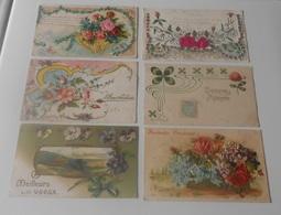 Lot 16 Cartes Postales Fantaisies Gaufrée - Fleurs - Plantes - Autres