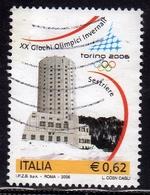 ITALIA REPUBBLICA ITALY 2005 GIOCHI OLIMPICI INVERNALI TORINO 2006 TORRI DEL SESTRIERE € 0,62 USATO USED OBLITERE' - 2001-10: Usati