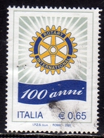 ITALIA REPUBBLICA ITALY REPUBLIC 2005 ROTARY INTERNATIONAL USATO USED OBLITERE' - 2001-10: Usati