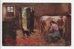 H.J. Dobson - Milking Time - Tuck Oilette 9343 - Tuck, Raphael