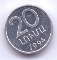 ARMENIA 1994: 20 Luma, KM 52 - Armenië